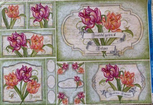 Papel Decoupage de Flores 49X34
